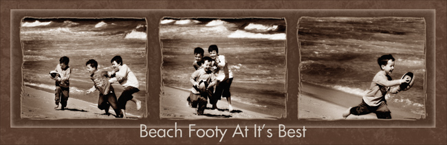 Beach Footy At It's Best
